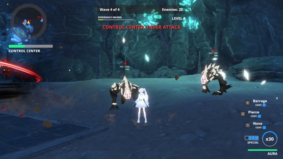Weiss - ultimo nivel del primer escenario