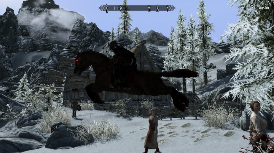 Luthien really enjoyed having a horse. She did spend a lot of time climbing up impossible mountains and jumping along the way to test the waters and potential of this wonderful ride.