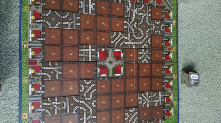 This is how erratic the tile placing can be - as long as they are touching other tiles or the edge, and are plced according to the rules...go mad!